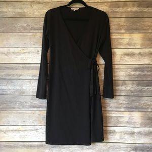 Synergy M organic cotton wrap dress basic black